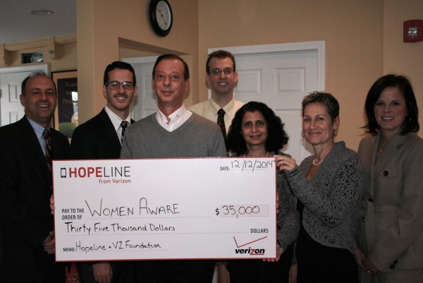 Verizon funds domestic violence programs